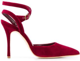 Manolo Blahnik pointed ankle strap pumps