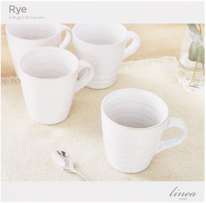 Linea Rye Stoneware Mug Set of 4