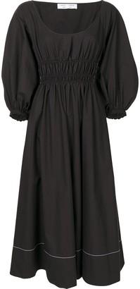 Proenza Schouler White Label Gathered-Detail Bishop-Sleeve Dress