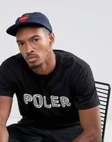 Poler Unconstructed 6 Panel Nylon Cap With Furry Heart Logo