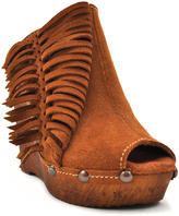 Sbicca Tan Pitch Suede Wedge Clog