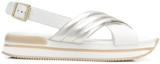 Hogan crisscross platform sandals