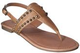 Mossimo Women's Wendy Studded Flat Sandal - Cognac