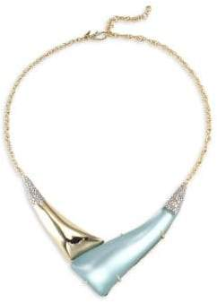 Alexis Bittar Lucite Hinged 'V' Shape Pendant Necklace