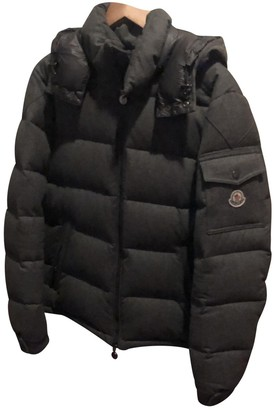 Moncler Hood Grey Wool Coats