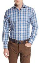 Peter Millar Teton Plaid Oxford Shirt, Hawaiian Blue