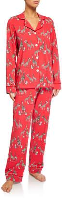 Bedhead Pajamas Holiday Giraffes Classic Pajama Set
