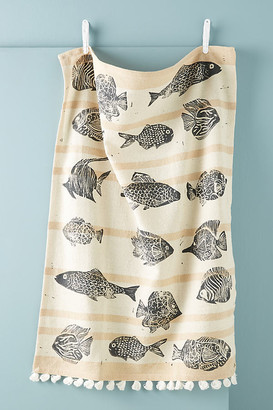 Anthropologie Tetra Dish Towel By in White Size DISHTOWEL