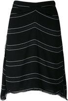 Proenza Schouler striped skirt - women - Silk/Acetate/Viscose - 4