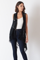 Dynamite Crochet Overpiece with Fringe