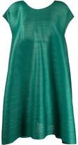 Pleats Please Issey Miyake back-drawstring pleated A-line dress