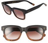 Raen Women's Gilman 52Mm Sunglasses - Matte Black/ Burlwood