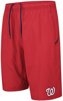 Majestic Men's Red/Navy Washington Nationals Big & Tall No Stopping Shorts