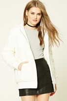 Forever 21 Faux Shearling Hooded Jacket