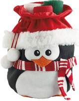 Design Imports Penguin Gift Bag and Dish Towel Set (4 PC)