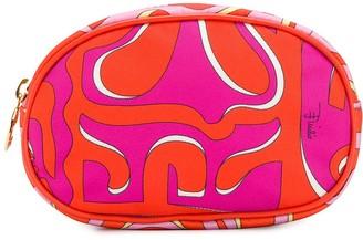 Emilio Pucci abstract print make up bag