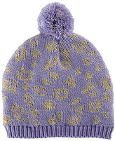 San Diego Hat Company Lavender Leopard Beanie