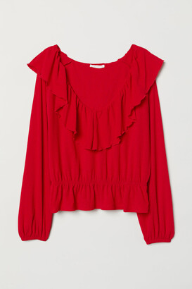 H&M Frilled top