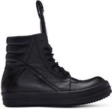 Rick Owens Black Geobasket High-top Sneakers