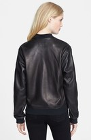 Rag and Bone Leather Bomber Jacket