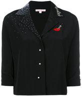 Olympia Le-Tan shirt with sequin appliqué - women - Silk - 36
