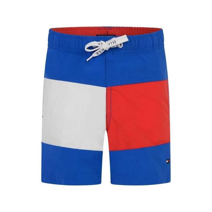 Tommy Hilfiger Tommy HilfigerBoys Blue Medium Drawstring Swim Shorts