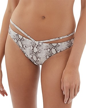 Jonathan Simkhai Emmalynn Printed Strappy Bikini Bottom