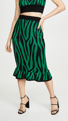 Victor Glemaud Wool Long Skirt