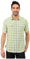 True Grit Beach Checks Short Sleeve Shirt Two-Pocket Combed Cotton Double Light