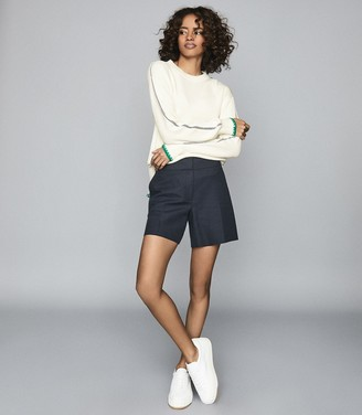 Reiss Ellena - Ribbed Knit Jumper in Cream