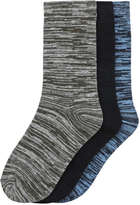Joe Fresh Kid Boys' 3 Pack Marled Socks, Multi (Size 3-6)