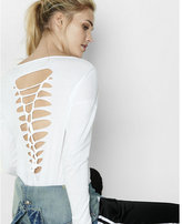 Express one eleven long sleeve slash back tee