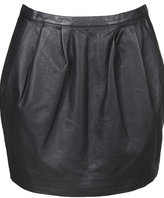 Atomic Faux Leather Skirt