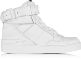 Moschino White Leather High Top Sneaker