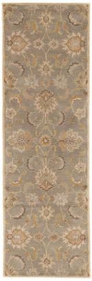 "Jaipur Living Abers Handmade Floral Gray/Beige Area Rug, 2'6""x8' Runne"