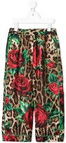 Dolce & Gabbana leopard and floral print trousers