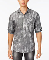 INC International Concepts Men's Classic-Fit Metallic Print Shirt, Only at Macy's