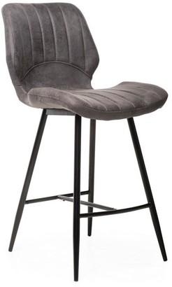 Vetro Furniture Colombo Bar Stool Grey