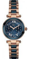 Gc Guess Collection Women's Lady Chic Two Tone Steel Bracelet Gold Plated Case Quartz MOP Dial Watch Y06009L7