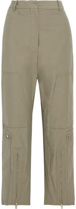 Stella McCartney Jaylyn Cotton-blend Straight-leg Pants