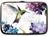 Cute Watercolor Hummingbird with Flowers Picture Notebook Laptop Sleeve Case (two sides) - Macbook, Macbook Air/Pro 13 Inch Hot Sale Laptop Sleeve Case Bags