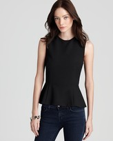 French Connection Top - Coco Crepe Peplum