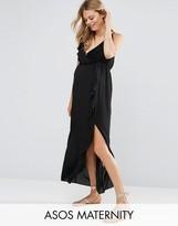 Asos Ruffle Beach Wrap Maxi Dress