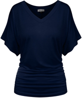 BB Navy Flutter-Sleeve Tee - Plus Too