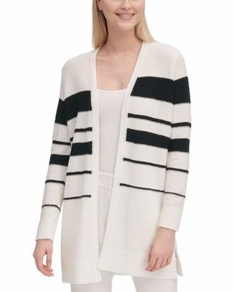 Calvin Klein Women's Multi Stripe Long Cardigan