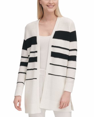 Calvin Klein Women's Stripe Long Cardigan