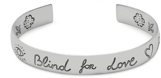 "Gucci ""Blind For Love"" bracelet in silver"