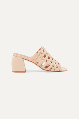 Souliers Martinez - Barcelona Woven Leather Mules - Neutral