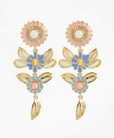 Brooks Brothers Floral Drop Earrings