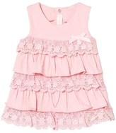 Mayoral Pink Lace Tiered Dress